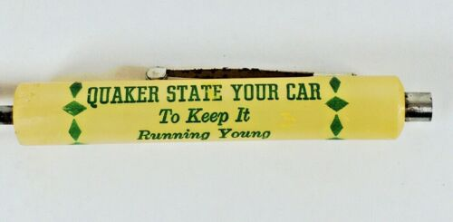 Vintage Quaker State Motor Oil Screwdriver Magnet Clip Ready Tool USA