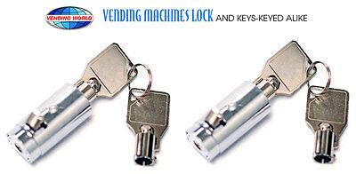 2 - Dixie Narco Vendo Pepsi Soda Machine Vending Lock And Keys -ships Free