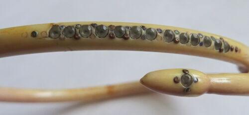 Georgian Carved bovine Black Dot Paste Snake Bracelet