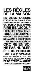 «Les règles de la maison» | Vinyle autocollant mural