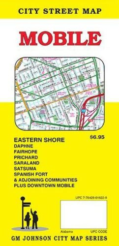 City Street Map of Mobile, Alabama, by GMJ Maps