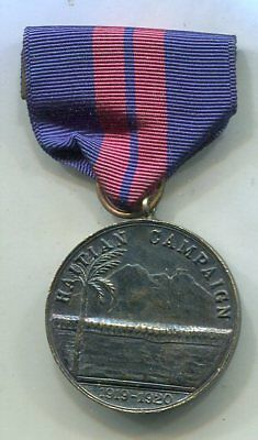 US Navy 2nd HAITIAN CAMPAIGN Service Medal Vintage 'Studley' Thick Medal