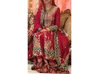 Maria B original red wedding outfit