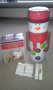 Snowman Tin, Holiday Foam Creation Kit and Craft Clothespins