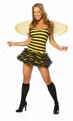 Sexy Roma Halloween Adult Honey Bee Costume w Wings (Honey Bee Kostüm)