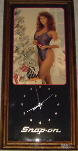 New 80's Christmas Snap-On Clock with Lingerie Model Windsor Region Ontario image 1