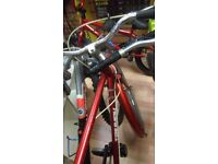 Triumph Traffic master red 1987 working bike (new just fitted 26x1 3/8 tyre on front) cycle