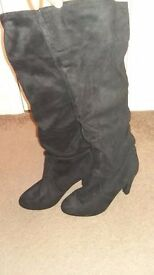Knee High Suede Slouch Boots, Size 8 / 42 from Primark