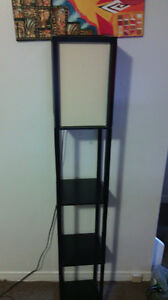 standing light with shelves