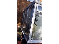 UPVC Conservatory with Glass Roof