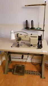 2 needle, needle feed, industrial sewing machine, large bobbins