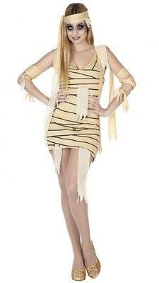 Kostüm Frau Mumie Beige XS/S 36/38 ägyptisches sexy Ägypten Halloween neu