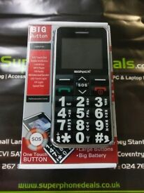 SONICA S1 - BIG BUTTON DUAL SIM MOBILE PHONE - UNLOCKED