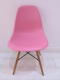 CHARLES EAMES DSW 'Eiffel' Pink Dining Chair GOOD AS NEW
