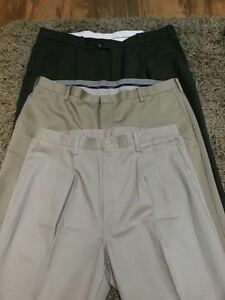 Men's dress pants and casual sweaters