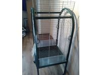 Parrot cage, suitable for parrots, parakeets, cockatiel etc, with some accessories.