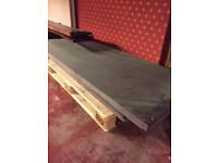 Dismantled FULL SIZE SNOOKER TABLE Mahogany Wood 5 x Slate Pieces Pockets Baize