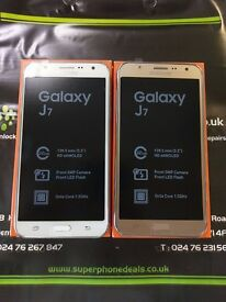 SAMSUNG GALAXY J7 - UNLOCKED TO ALL NETWORKS - BRAND NEW