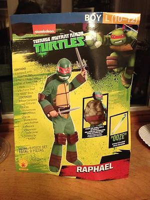 Rubie's Boys Teenage Mutant Ninja Turtles Raphael Deluxe Costume 8 PC Set New