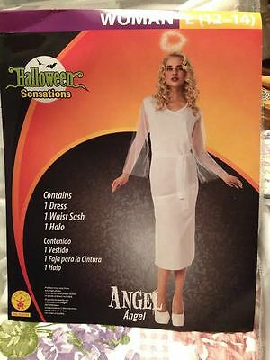Rubies Woman HEAVENLY EARTH ANGEL W HALO HALLOWEEN COSTUME Large 12-14 Brand New](Earth Halloween Costume)