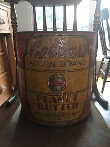 Large Barbour's Acorn Brand Peanut Butter Tin - Saint John, NB