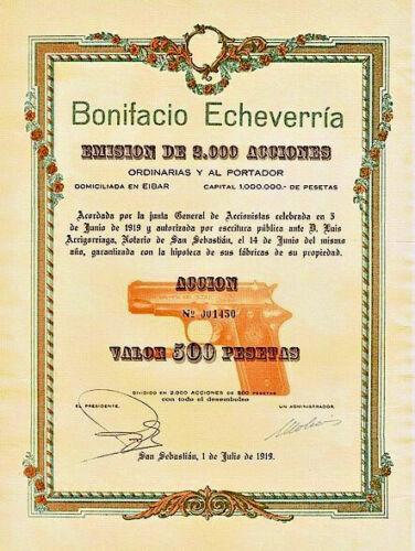 XXX-RARE MINT ORIGINAL 1919 STAR PISTOL BOND w PISTOL VIGNETTE! LEGENDARY GUN CO
