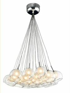 Suspended 24-Glass ball pendant light (bulbs included!)