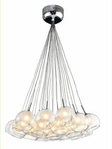 Suspended  24-Glass  ball  pendant  light  (bulbs  included)