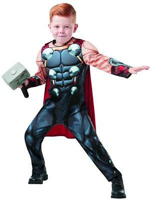 Thor Avengers Kostüme (Thor Avengers Assemble Deluxe MARVEL Kinder Kostüm Größe 9 bis 10 Jahre)