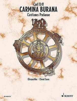 CARMINA BURANA CANTIONES PROFANAE CHORAL SCORE BOOK NEW