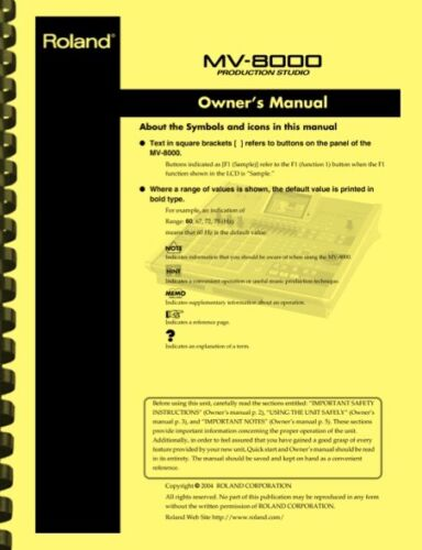 Roland MV-8000 Production Studio Sampler OWNER