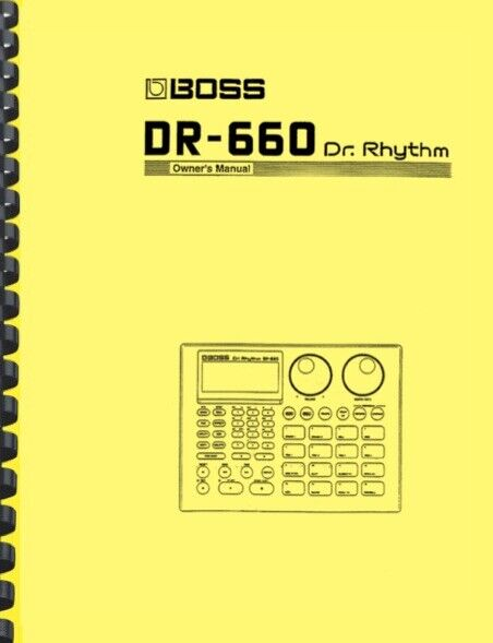 Boss DR-660 Dr. Rhythm OWNER S MANUAL And SERVICE NOTES - $19.95