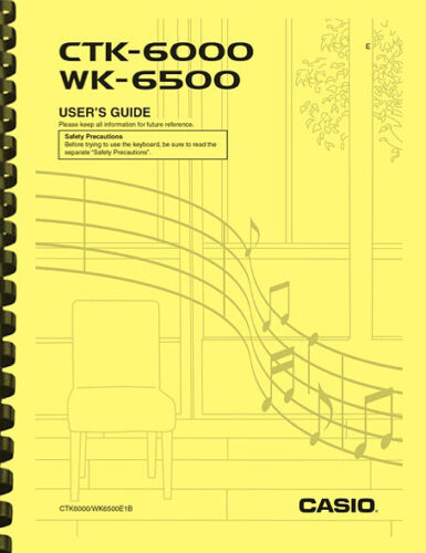 Casio WK-6500 CTK-6000  Keyboard USER
