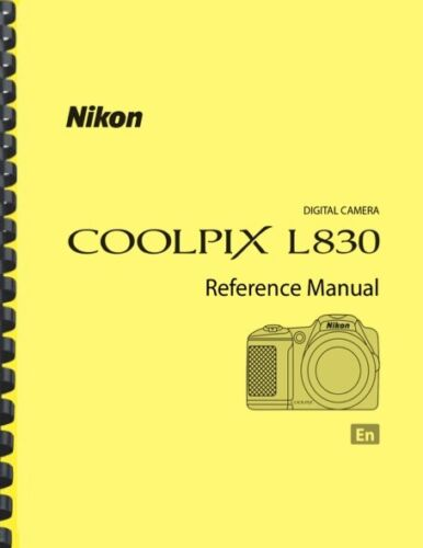 Nikon Coolpix L830 Digital Camera USER