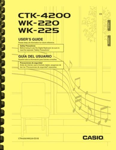 Casio WK-220 WK-225 CTK-4200 Keyboard USER