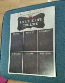 Chalk Timetable Board