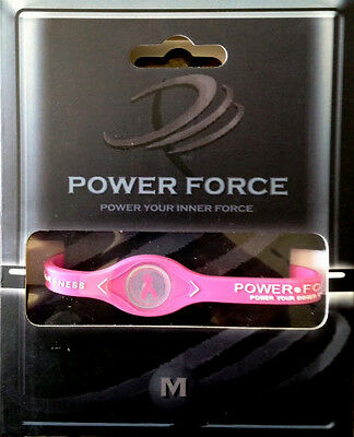 Pink Ribbon Breast Cancer Awareness Power Force Ion Balance Bracelet New In Box - Breast Cancer Awareness Bracelets