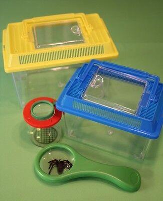 Entdeckerset mit Lupendose Insektenboxen & großer Lupe für Kinder ab 3 Jahre