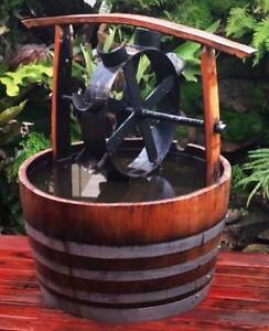 WATER WHEEL GARDEN FEATURE WATER FEATURE POND