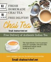 Freshly Brewed Homemade East Indian Tea at your doorstep