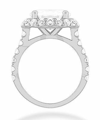 2.82 carat 1.54 ct center Round Diamond Solitaire 14k White Gold Ring GIA K VS2 2