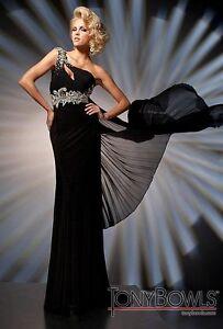 Tony-Bowls-TBE21261-Black-Asymmetrical-Evening-Gown-Dress-Size-8-12-New-NWT