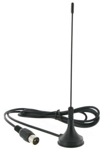 Stabantenne f. DVB-T | DVBT TV Antenne Magnetfuß Kabel