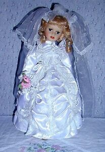 Porcelain Doll with 2 Bears in pocket .. Excellent Condition .. Cambridge Kitchener Area image 3