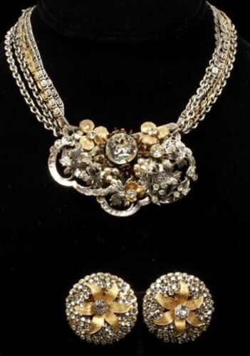 VINTAGE Miriam Haskell Necklace and Earrings