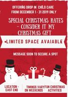 SPECIAL DISCOUNT ON CHILDCARE DURING CHRISTMAS
