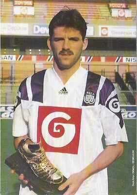 Carte RSC Anderlecht - Philippe Albert Soulier d'Or Gouden Schen 1992