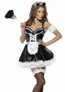 d guisement costume bonne femme menage serveuse soubrette robe carnaval 15242 ebay. Black Bedroom Furniture Sets. Home Design Ideas
