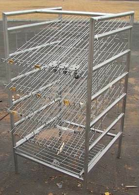 Gravity Feed Retail Display Breadpastry Rack
