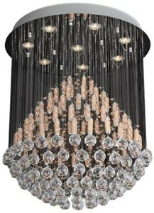8 LED ceiling lights crystal chandelier, brand new in box